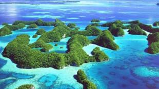 Quần đảo Palau nằm ở Thái Bình Dương