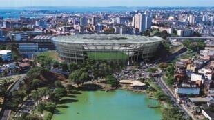 Arena Fonte Nova, em Salvador. O estádio conta com 80% das obras concluídas
