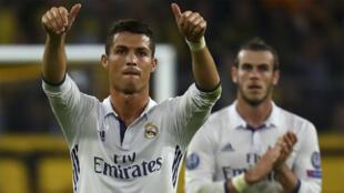 Cristiano Ronaldo and Gareth Bale playing Dortmund in September