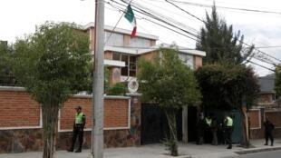 L'ambassade du Mexique à La Paz le 26 décembre 2019.