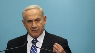 Le Premier ministre israélien Benyamin Netanyahu. Jérusalem, le 9 octobre 2012.