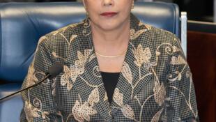 Dilma Rousseff perante os senadores durante sessão de julgamento, a 29 de Agosto de 2016.