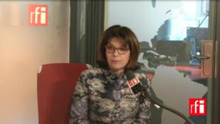 Nathalie Goulet dans les studios de RFI.