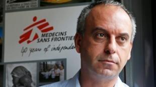 Mego Terzian, président de Médecins sans frontières, à Paris, en 2014.