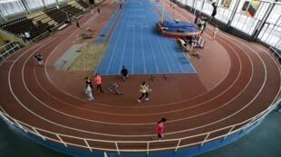 Trung tâm tập huấn điền kinh Znamensky Olympic tại Matxcơva ngày 10/11/2015. Điền kinh Nga bị phát giác sử dụng doping ồ ạt.