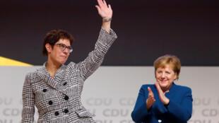 """""""آنگرت کرامپ کارِنباور"""" رهبر جدید  حزب """"دموکرات مسیحی"""" آلمان."""