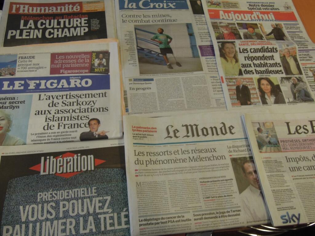 Diários franceses    04/04/2012