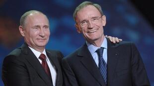 Жан-Клода Килли и Владимир Путин