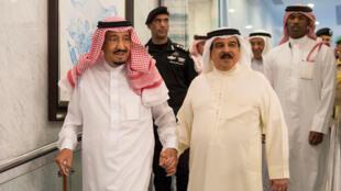 """""""حمد بن عیسی آل خلیفه"""" پادشاه بحرین و """"ملک سلمان"""" پادشاه عربستان"""