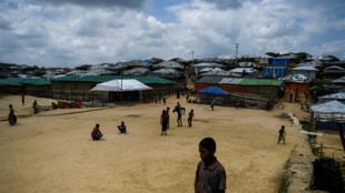 Le camp de réfugiés Rohingyas à Ukhia, au Bangladesh, le 9 août 2018.