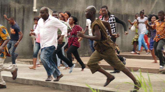 Abdoul Karim Konaté incarne ce personnage qui a donné au film son titre: «Run», du réalisateur ivoirien Philippe Lacôte.