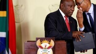 Le président Cyril Ramaphosa lors de l'annonce du nouveau gouvernement sud-africain, mercredi 29 mai 2019.