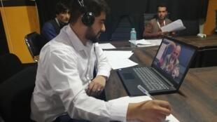 Momand, manager au centre d'appel du QG de campagne d'Ashraf Ghani à Kaboul.
