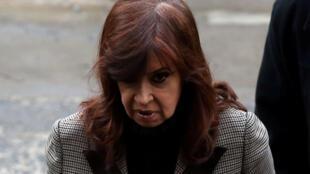 """La expresidenta argentina y actual senadora Cristina Kirchner ue procesada este lunes por el juez que lleva la megacausa de sobornos conocida como """"cuadernos de la corrupción""""."""