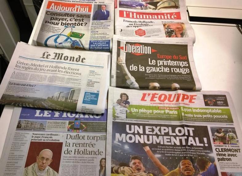 Diários franceses 05/01/2015
