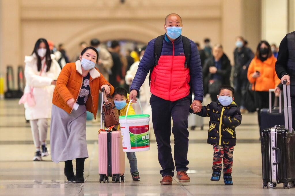 Tại một nhà ga ở Vũ Hán, Trung Quốc, ngày 21/01/2020.