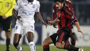 Le Congolais Delvin Ndinga Face au Milan AC.