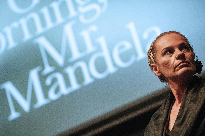 Zelda La Grange at the launch of her book Good Morning, Mr Mandela