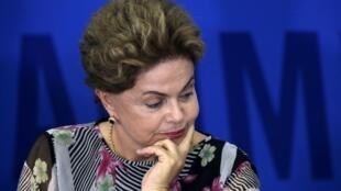 La presidenta de Brasil Dilma Rousseff durante un evento el 15 de septiembre en Brasilia.