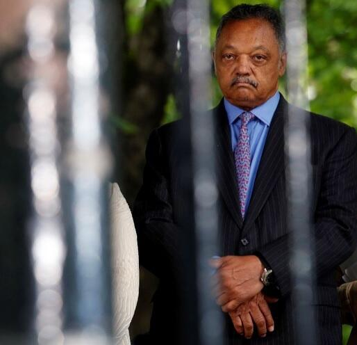 Reverend Jesse Jackson looks on during a ceremony at the Luxembourg Gardens to mark the anniversary of the abolition of slavery and to pay tribute to the victims of the slave trade, in Paris, on May 10, 2016