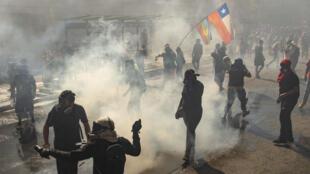 Disturbios en el centro de Santiago el 18 de octubre de 2020