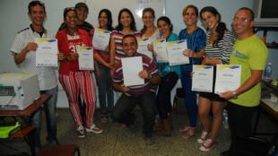 Algunos de los participantes del segundo Taller de periodismo cultural dirigido por RFI en La Habana.