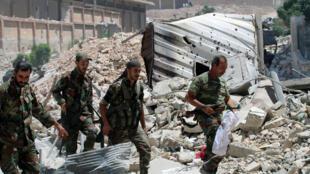 Soldados em Alepo