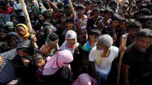 Người tị nạn Rohingya tại trại Balu Khali, Bangladesh. Ảnh 27/10/2017.