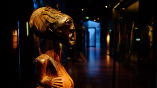 Musée du Quai Branly : statue protectrice nkishi. Population : Songye. (RDC), vers 1650.