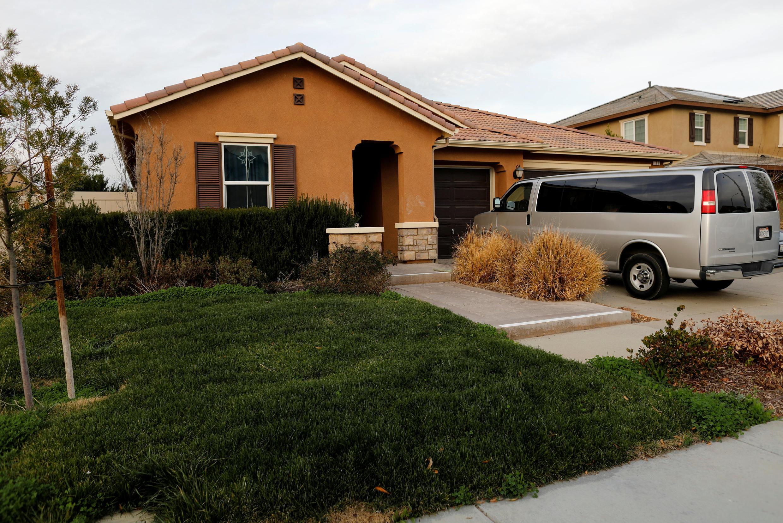 A casa onde os pais mantinham seus 13 filhos em cativeiro na Califórnia.
