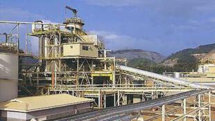 Une vue de la mine d'Ashanti au Ghana.
