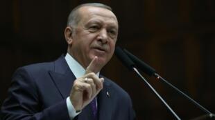 Rais wa Uturuki Recep Tayyip Erdogan, à Ankara, le 5 février 2020.