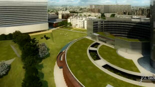 La maquette du futur ministère de la Défense à Paris devrait  accueillir à l'horizon 2015. près de 9.300 personnes.
