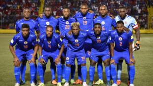 L'équipe de football d'Haïti, en novembre 2015.