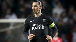 Zlatan Ibrahimovic, avançado do PSG.