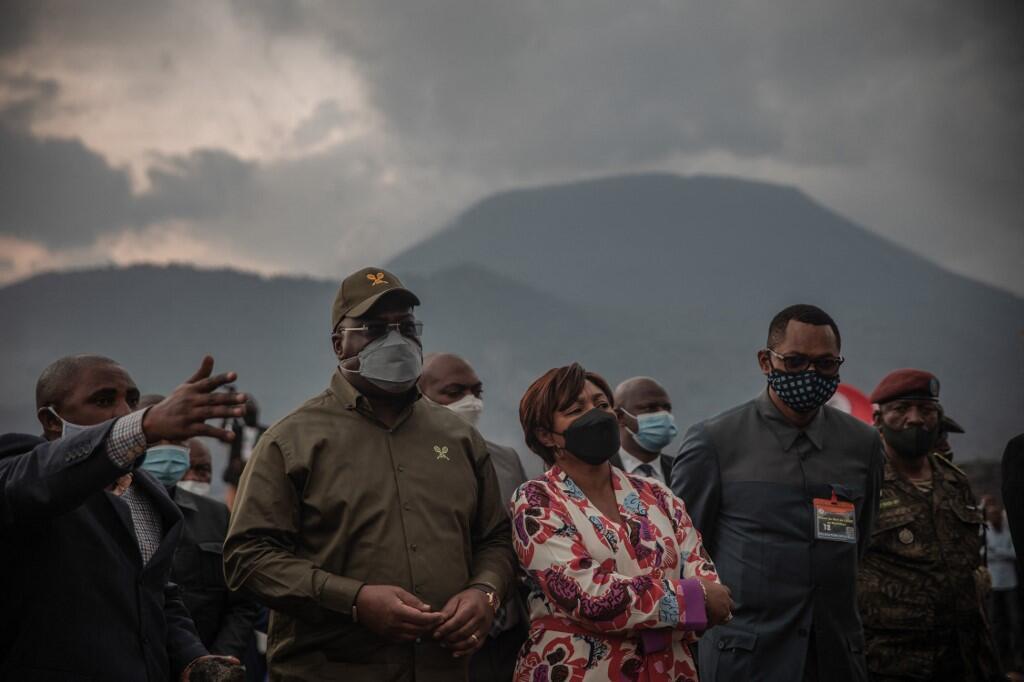 Le président Tshisekedi était en visite à Goma, le 14 juin 2021, avant de se rendre à Beni le lendemain.