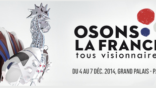 """Cartaz do salão """"Osons la France que abre suas portas nesta quinta-feira, 4 de dezembro de 2014."""