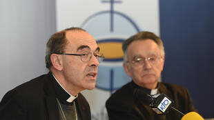 Cardinal Philippe Barbarin at a press conference during the week