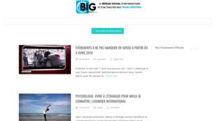 La page d'accueil de BIG PLANETE.