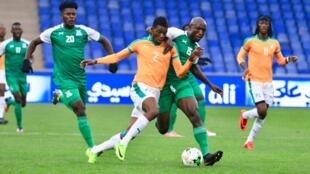 Le défenseur ivoirien Dagou Willie Britto (CHAN 2018), Côte d'Ivoire vs Zambie.