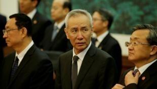 中國國務院副總理劉鶴資料圖片