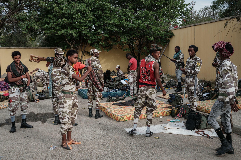 IMAGE Des combattants des forces rebelles du Tigré en Éthiopie, juin 2021.