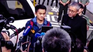 2018年在台灣殺害同行女友而惹起軒然大波的20歲香港青年陳同佳,2019年10月23日洗錢及盜用信用卡罪名刑滿出獄。資料照片