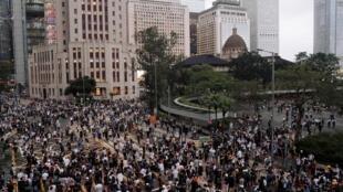 香港抗议引渡法案的示威活动 2019年6月12日