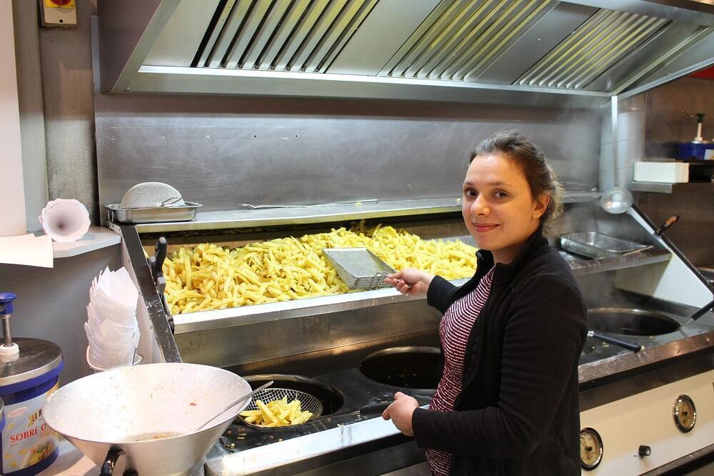Chez Gaby, les meilleures frites de Namur faites avec de la bintje locale.