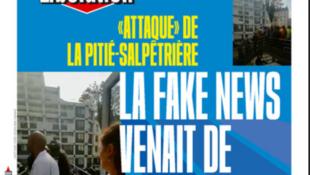 Capa do jornal Libération desta sexta-feira, 3 de maio de 2019.