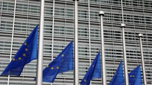 Châu Âu hạ cờ, tưởng niệm nạn nhân vụ khủng bố tại Barcelona. Ảnh tại Bruxelles ngày 18/08/2017.