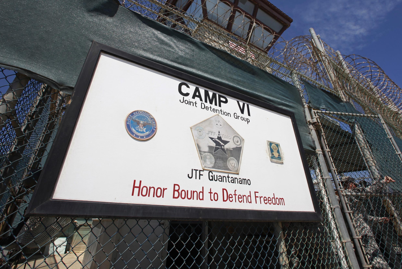 L'entrée du camp VI de la prison militaire américaine de Guantanamo.