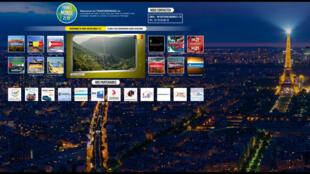 Page d'accueil du site de FranceMonde21.tv.