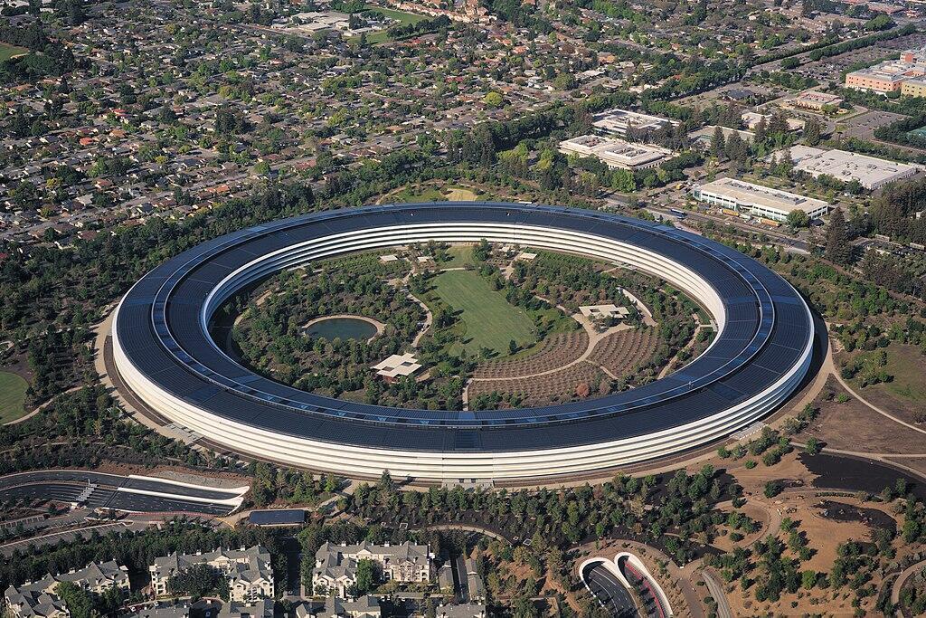 Le siège de la société Apple, emblématique de la Silicon Valley.